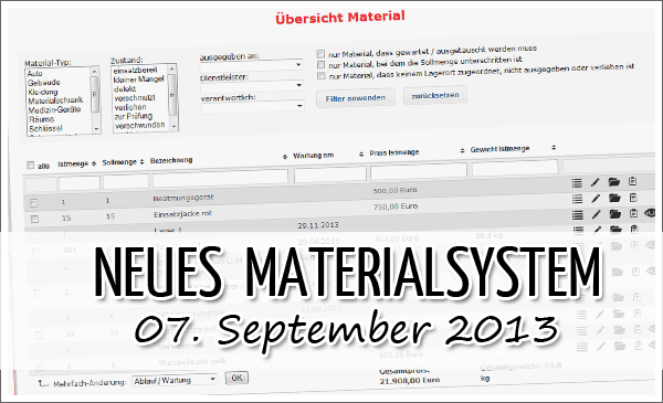 Release Materialsystem
