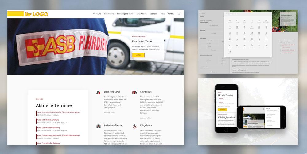 Joomla-Template für ASB-Verbände und andere Hilfsorganisationen