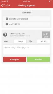 HiOrg-Server App: Melden aus der Veranstaltungsliste