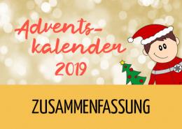 Beitragsbild Zusammenfassung Adventskalender 2019