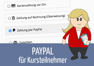 Beitragsbild PayPal für Kursteilnehmer