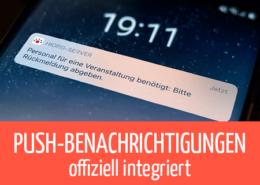 Beitragsbild Push offiziell integriert