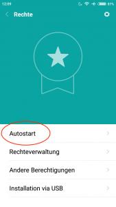 Rechte - Autostart