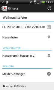 Screen Android-App auf Handy