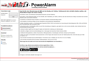 Screenshot PowerAlarm